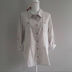 The North Face Women Button-up Gray Shirt XL NWT